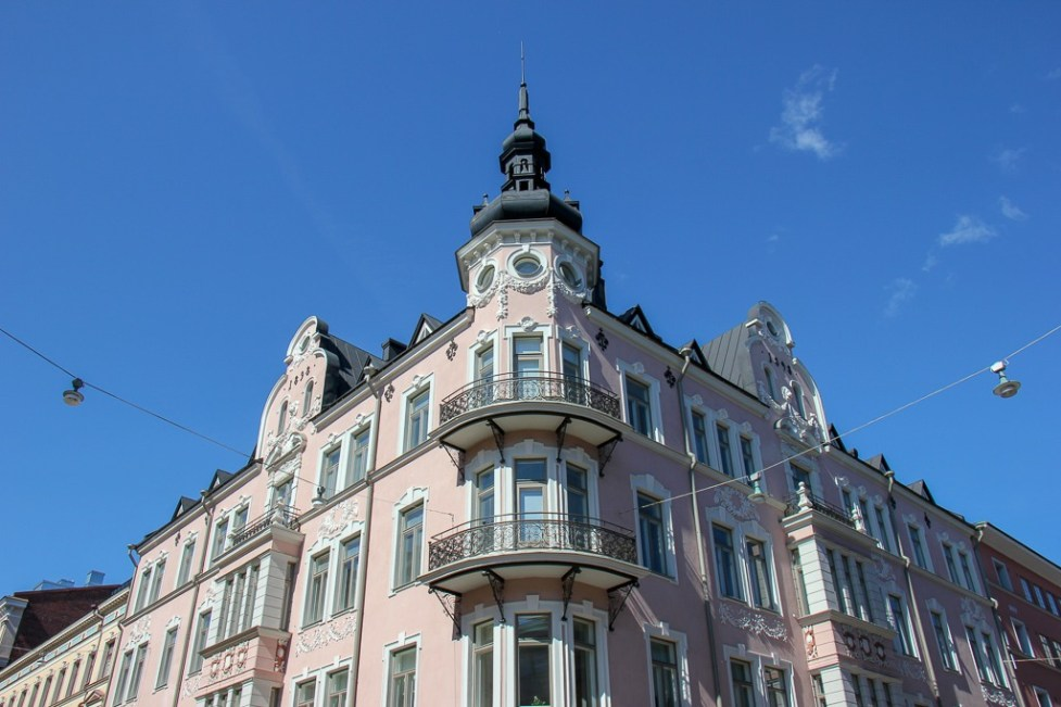 Beautiful architecture in Helsinki, Finland