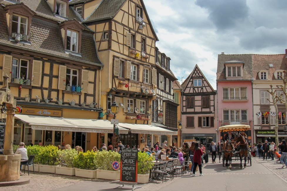 Half-timbered houses in Old Town Colmar, France