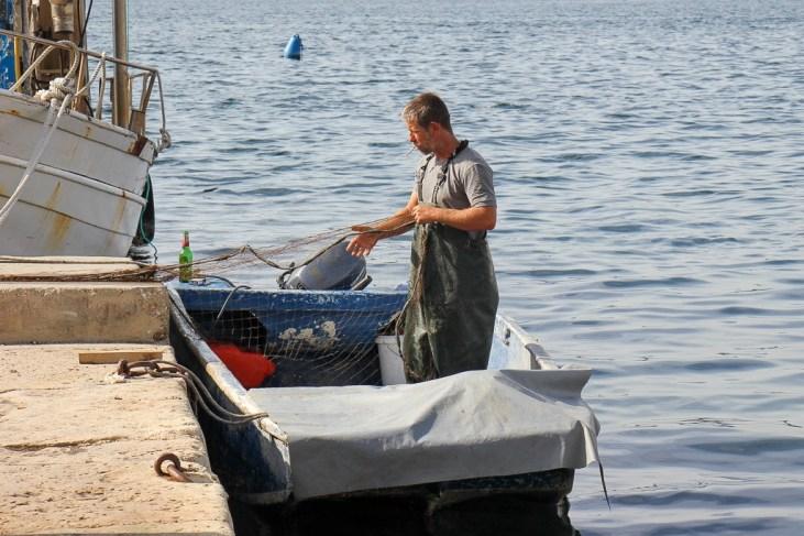 Fisherman, Sibenik, Croatia