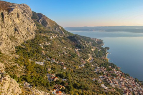 Best views from the fortress, Omis, Croatia