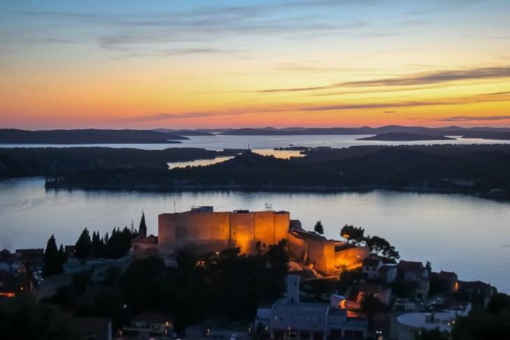 View from St. John's Fort, Sibenik, Croatia
