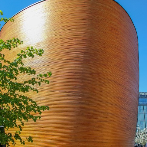 Wooden Chapel of Silence, Kamppi Chapel, in Helsinki, Finland