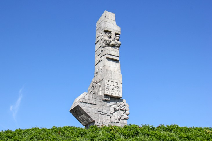 Stone monument to The Defenders of Westerplatte in Gdansk, Poland