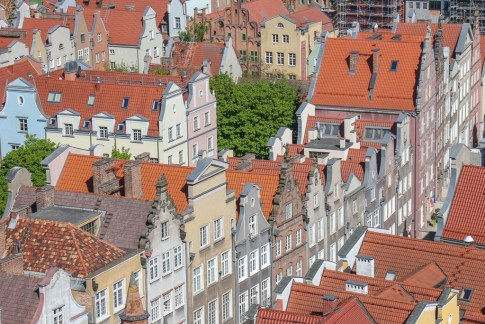 Colorful houses in Old Town Gdansk, Poland