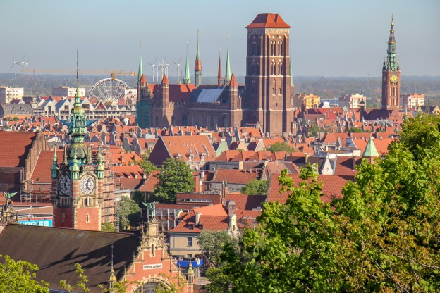 View of Gdansk, Poland Old Town Skyline