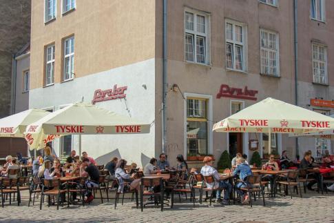 Popular potato restaurant, Pyra Bar, in Gdansk, Poland