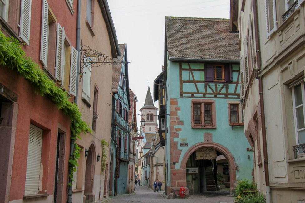 Half-Timbered Houses in Old Town Riquewihr, France