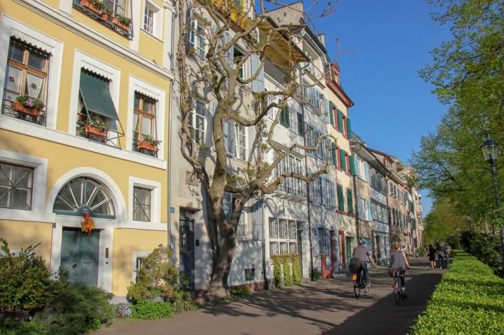 Walkway by Rhine River in Basel, Switzerland