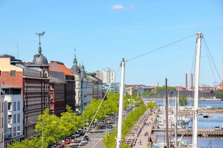 The shoreline in Helsinki, Finland