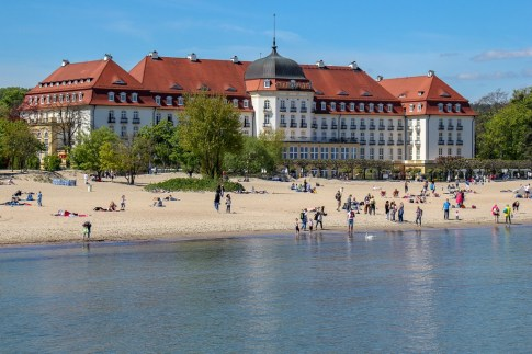 Sofitel Grand on the beach on the Baltic Sea in Sopot, Poland