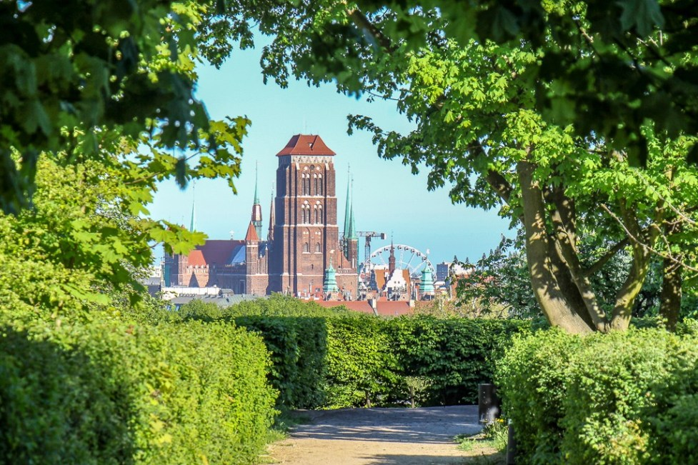 St. Mary's Basilica from Gradowa Hill, Gdansk, Poland