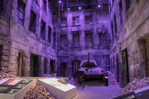 Recreation of WWII destruction at the Museum of the Second World War in Gdansk, Poland