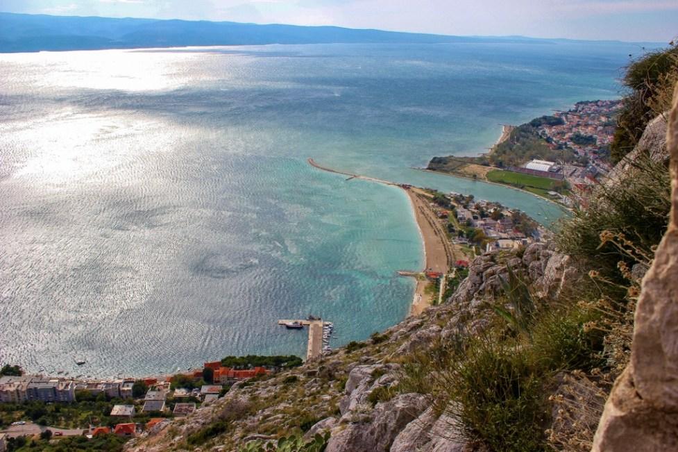 Stunning coastal views from the fortress, Omis, Croatia