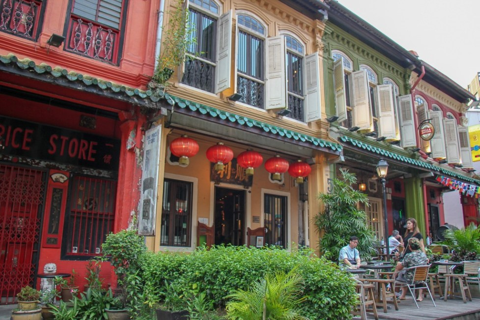 Restored houses on Emerald Road in Singapore