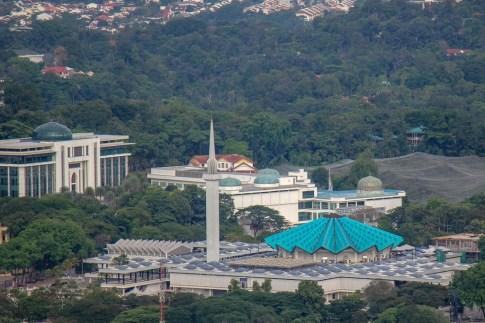 View of the National Mosque of Malaysia in Kuala Lumpur, Malaysia