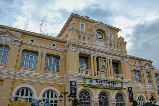 Old Post Office colonial building in Phnom Penh, Cambodia
