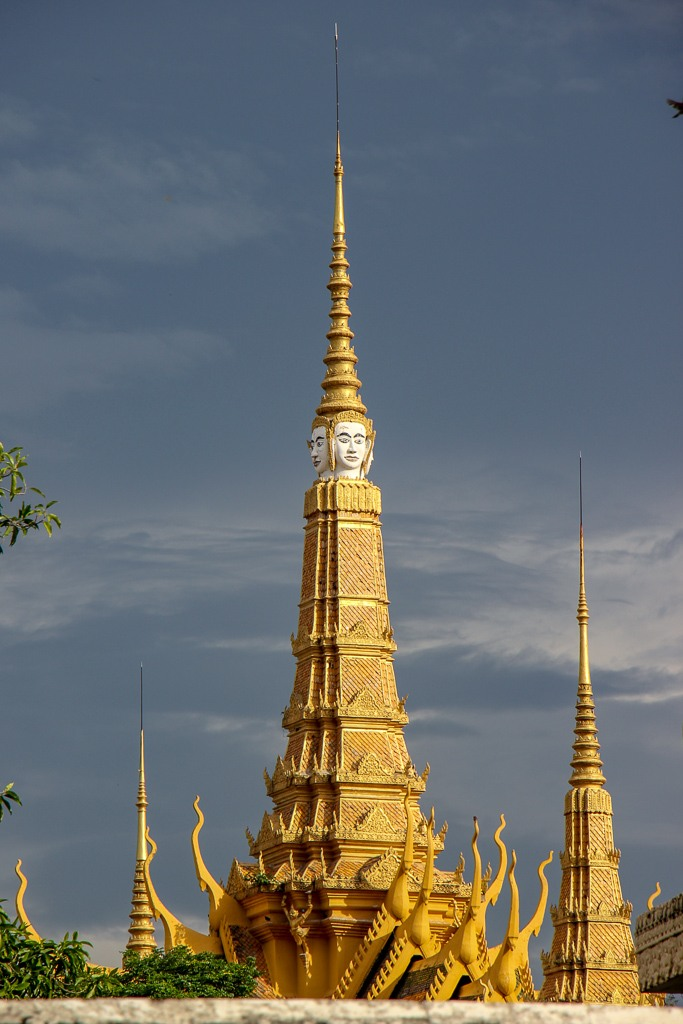Temple spire at Royal Palace in Phnom Penh, Cambodia