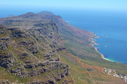 The 12 Apostles range at Table Mountain in Cape Town, South Africa