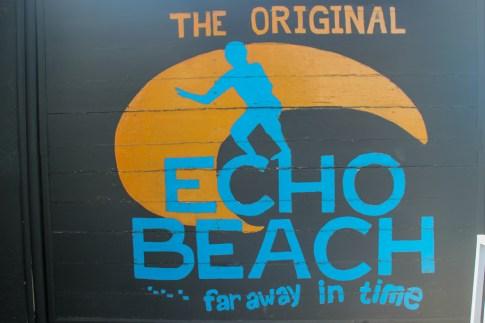 Echo Beach sign in Canggu, Bali, Indonesia