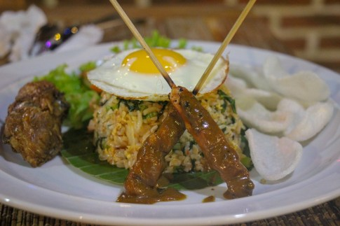 Traditional Nasi Goreng at Warung Smile in Canggu, Bali, Indonesia