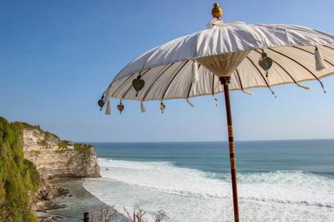 Bali umbrella at Sunset Point in Uluwatu, Bali, Indonesia