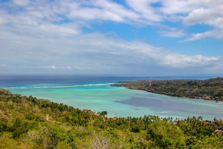 View over Nusa Islands from Nusa Ceningan, Bali, Indonesia