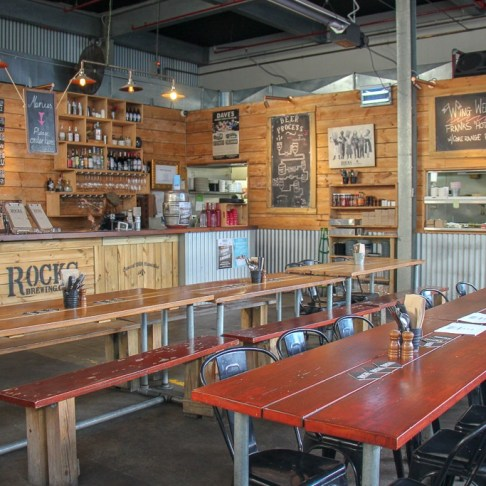 Taproom at Rocks Brewery in Alexandria, Sydney, Australia
