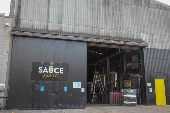 Entrance to Sauce Brewery in Marrickville, Sydney, Australia