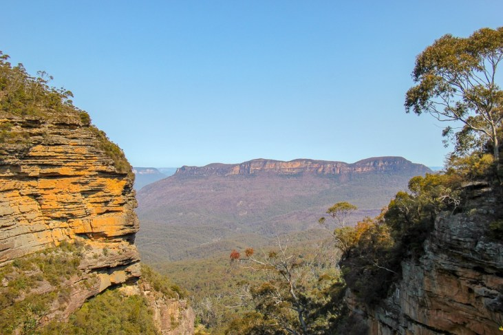 Viewpoint of valley at Blue Mountains National Park near Sydney, Australia