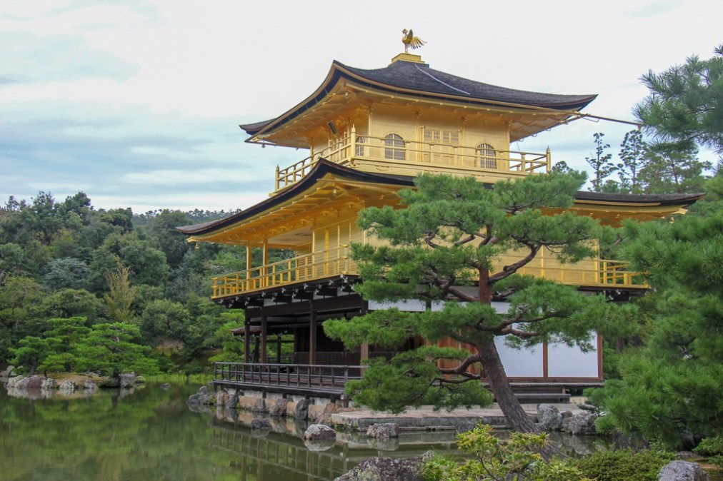 Iconic Kinkaku-ji Temple in Kyoto, Japan