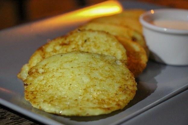 Deruny potato pancakes at Facet Restaurant in Lviv, Ukraine