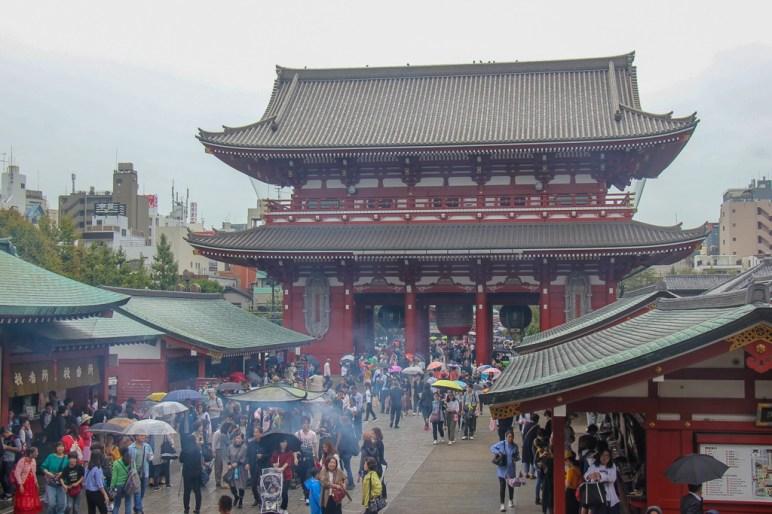 Incense fills the air at Asakusa Sensoji Temple in Tokyo, Japan