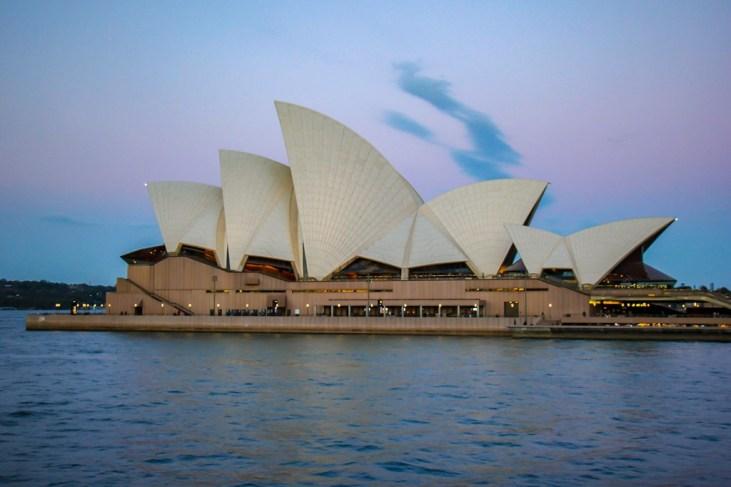 Evening View of Sydney Opera House, Australia