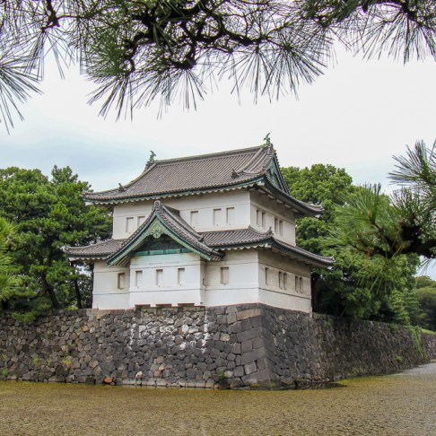 Moat around The Imperial Palace in Tokyo, Japan