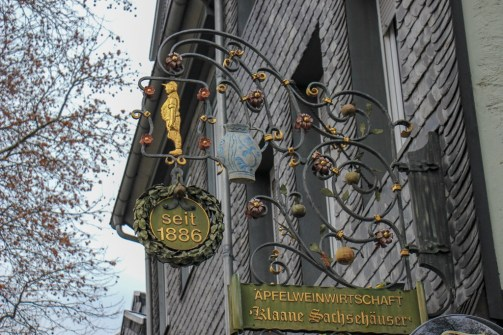 Apple wine tavern in Old Sachsenhausen district in Frankfurt, Germany