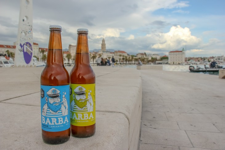 Bottles of Barba Craft Beer from LAB Brewery in Split, Croatia
