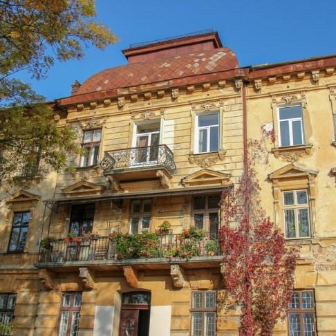 Old architecture in Lviv, Ukraine