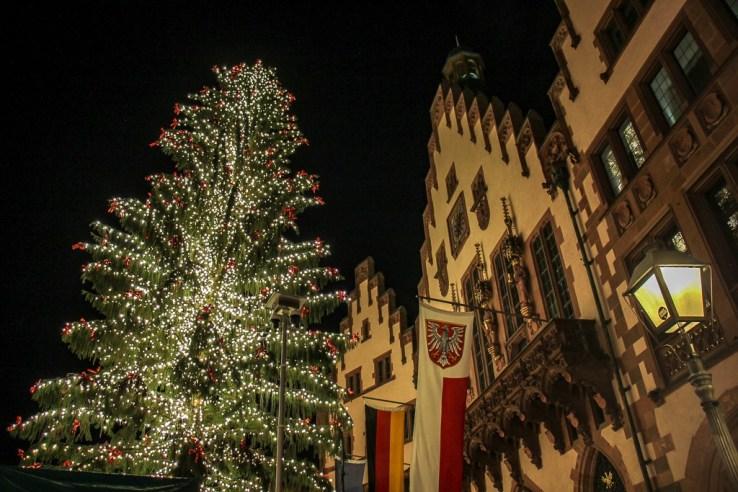 Frankfurt Christmas Market on Romerberg Square in Frankfurt, Germany