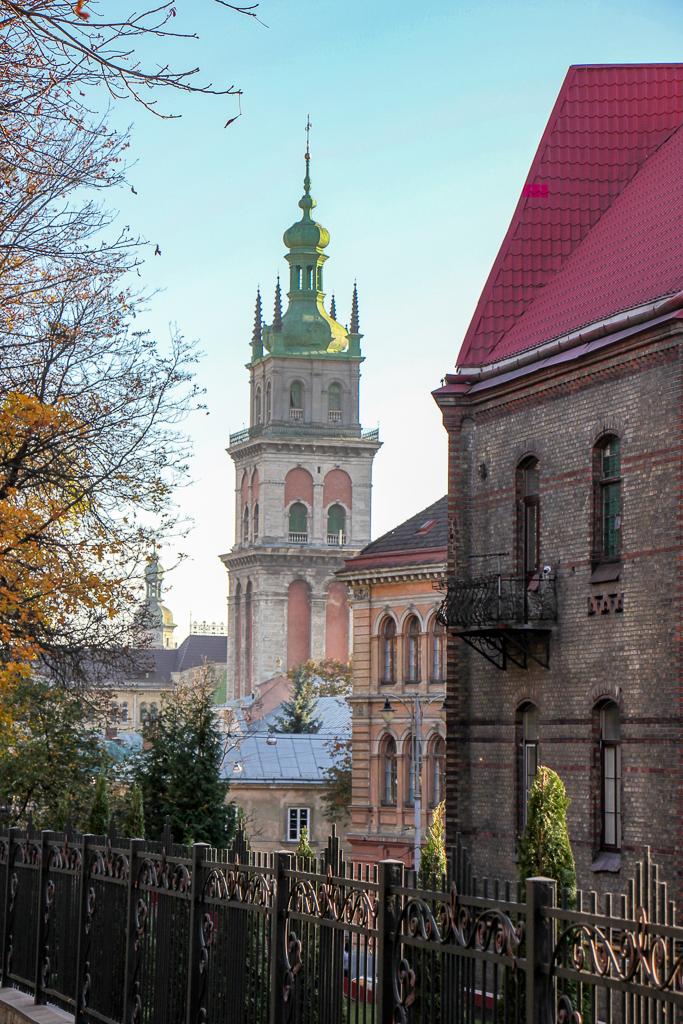 Korniakt Tower at Dormition Church in Lviv, Ukraine