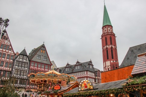 Romerberg at Christmastime in Frankfurt, Germany