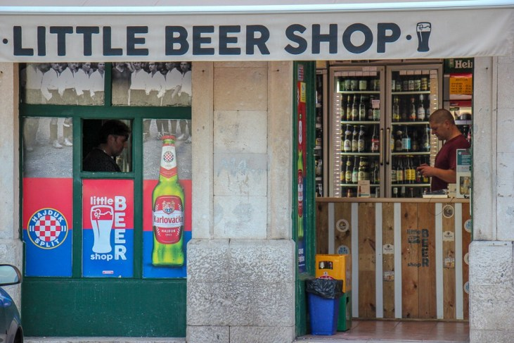 Little Beer Shop near Matejuska in Split, Croatia