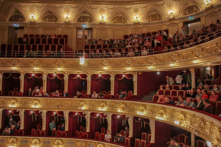 Opera House theater in Lviv, Ukraine