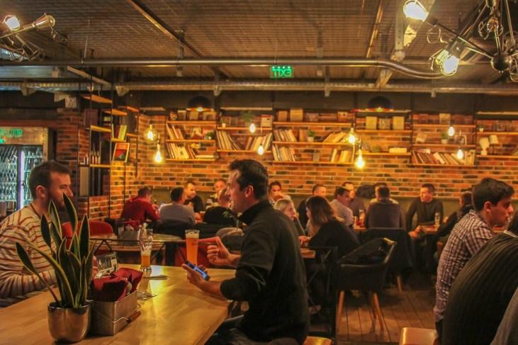 Dining area at Plan B Pub in Split, Croatia