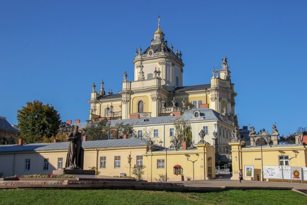 The hilltop St. George's Cathedral in Lviv, Ukraine