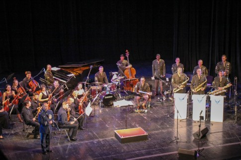 The USAF in Europe Band performing at the Opera House in Lviv, Ukraine