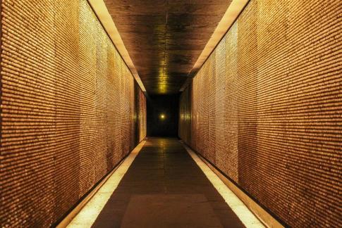 Memorial at Deportation Martyrs Memorial in Paris, France