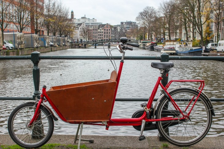 Typical Family Bike, Amsterdam, Netherlands