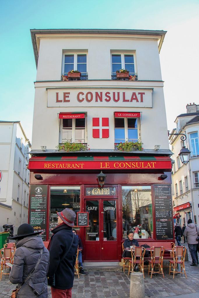 Famous Le Consulat Cafe in Montmartre district in Paris, France