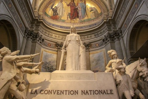 La Convention Nationale statue in Pantheon in Paris, France