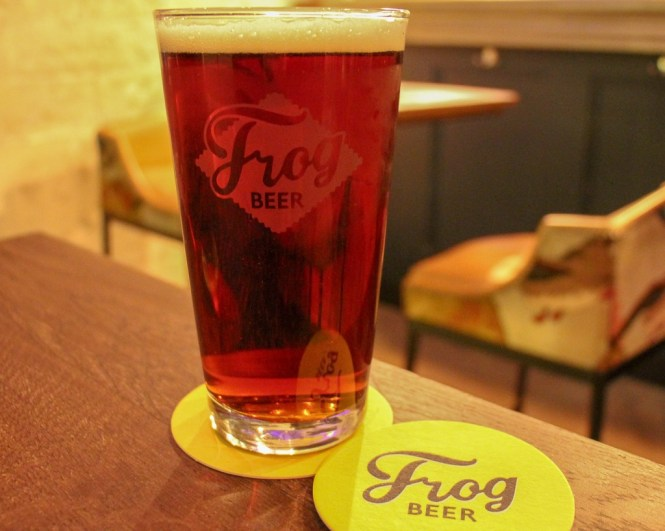 Pint of FrogBeer Craft Beer at The Frog & Underground in Paris, France